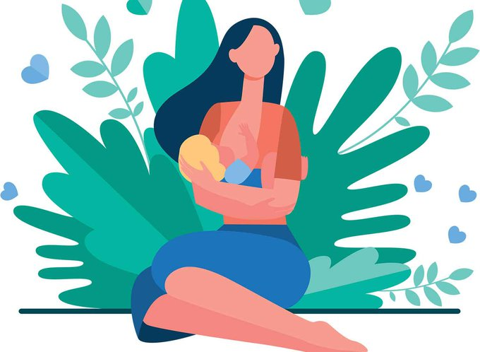 Illustration-of-mother-breastfeeding-her-baby-while-sitting-in-front-of-plants.jpg